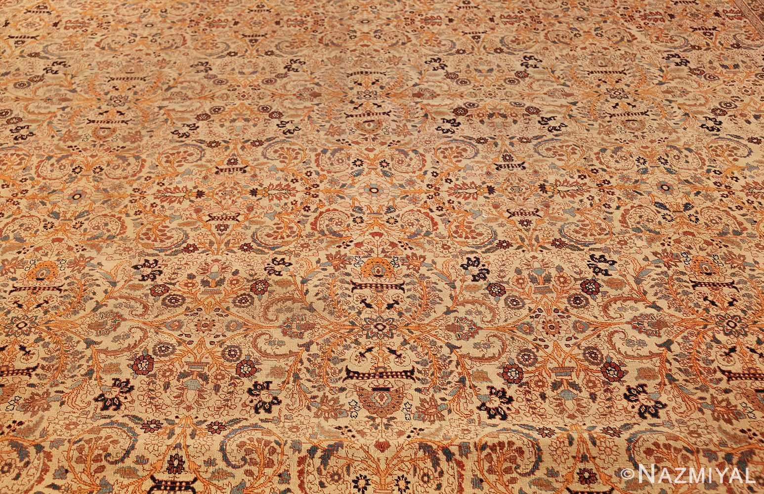 beautiful antique persian haji jalili tabriz rug 50588 field Nazmiyal
