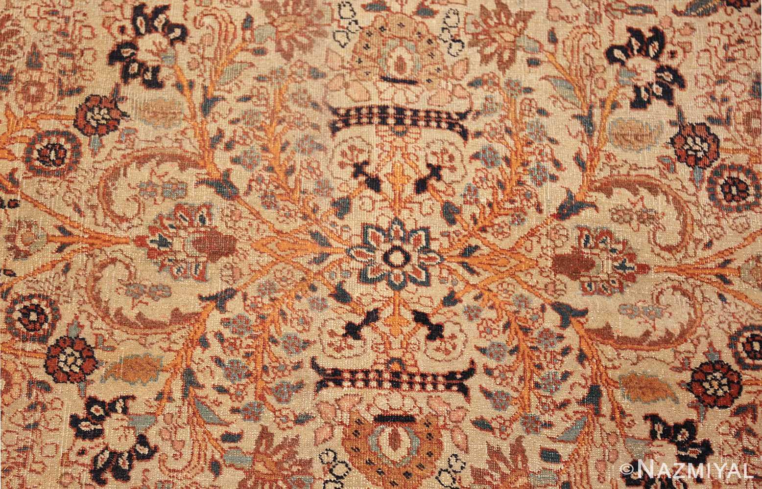 beautiful antique persian haji jalili tabriz rug 50588 flower Nazmiyal