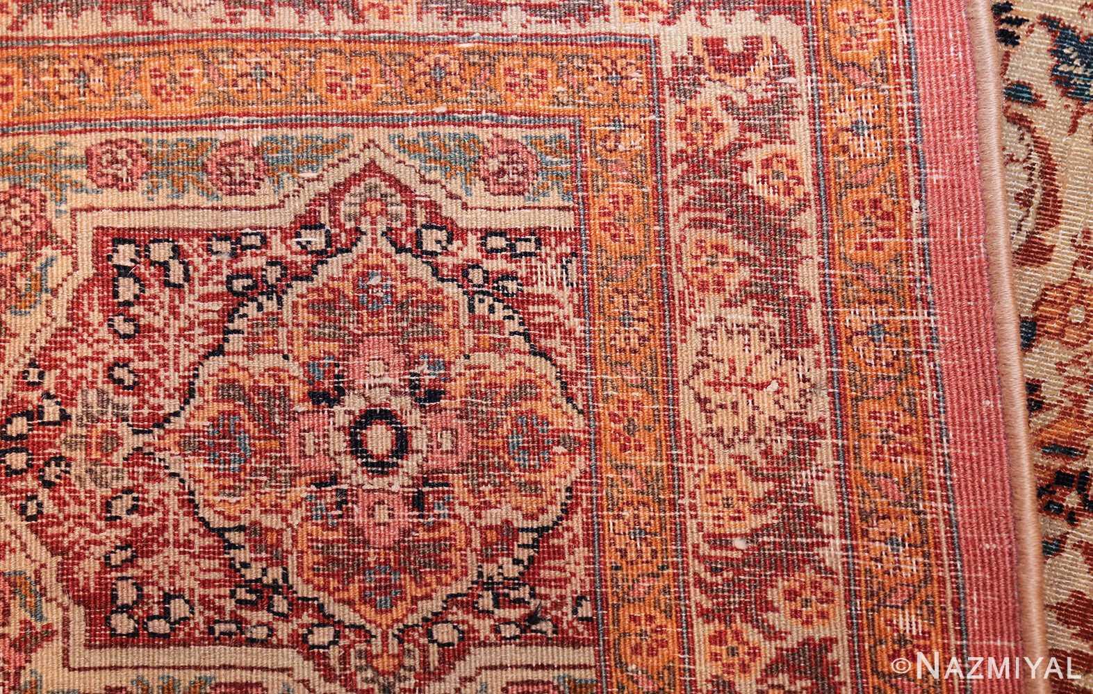 beautiful antique persian haji jalili tabriz rug 50588 weave Nazmiyal