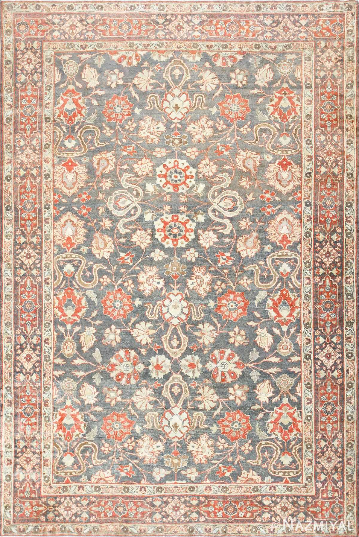 Beautiful Grey Antique Persian Tabriz Rug 48598 Nazmiyal