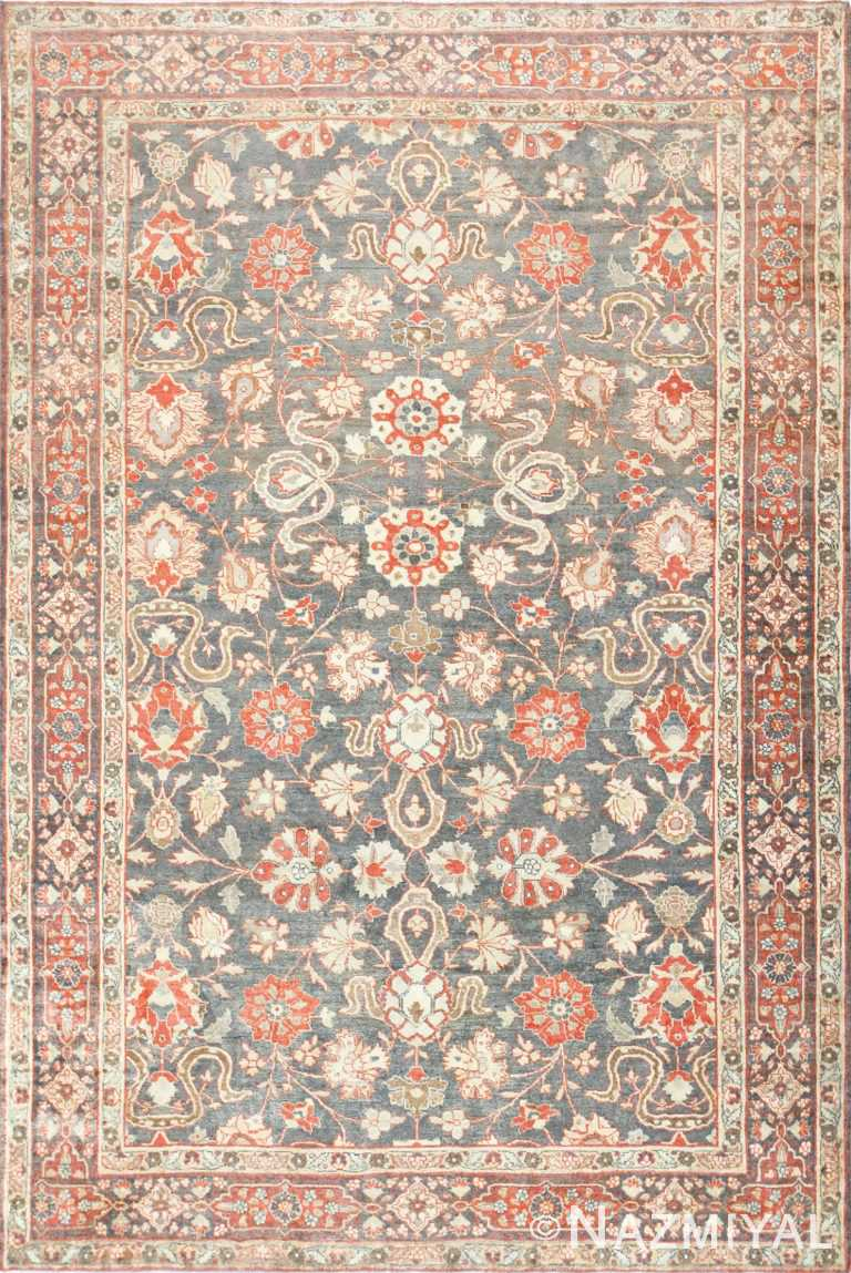 Beautiful Grey Antique Persian Tabriz Rug 48598 Nazmiyal