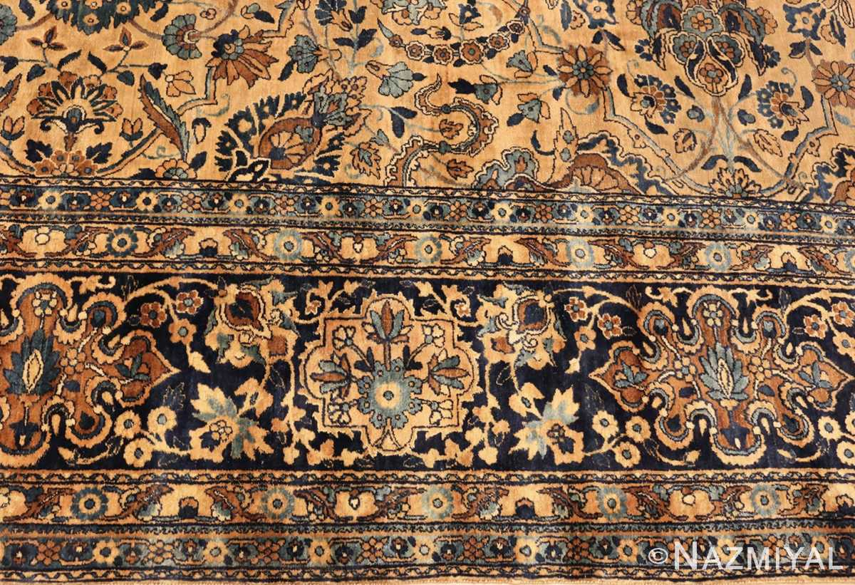 beautiful large antique persian kerman rug 50624 border Nazmiyal