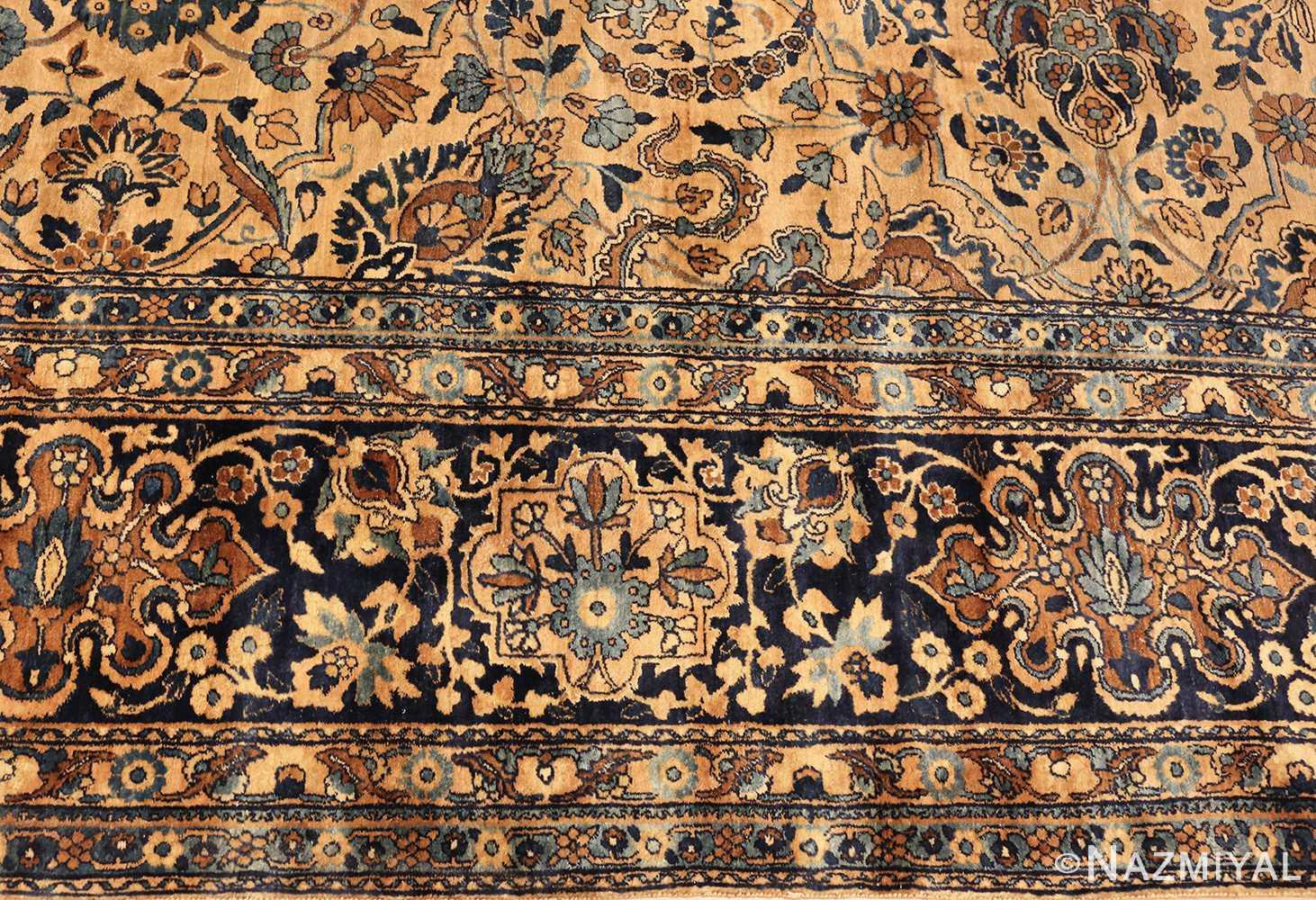 beautiful large antique persian kerman rug 50624 border Nazmiyal