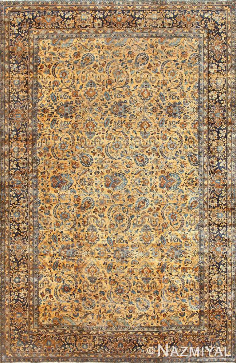 Beautiful Large Antique Persian Kerman Rug 50624 Nazmiyal