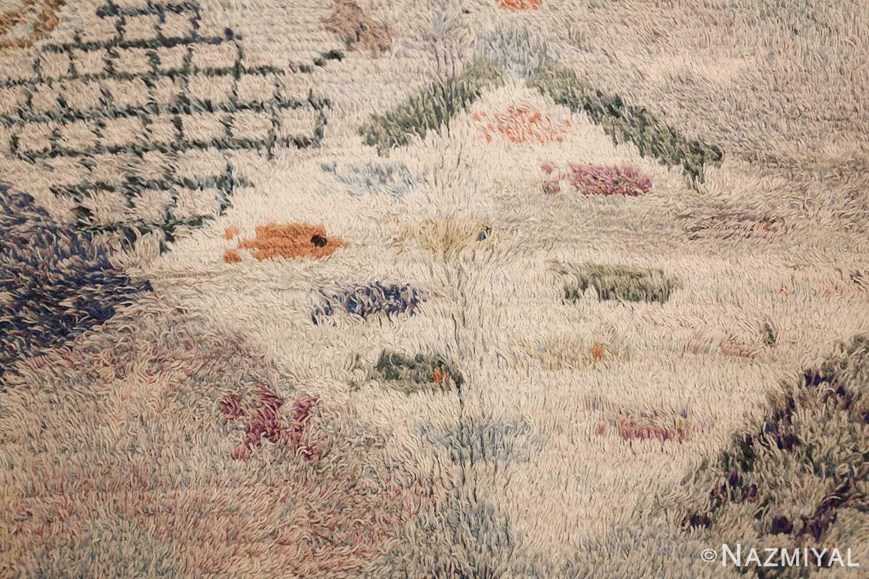 beautiful shag vintage swedish rya rug 48797 fish Nazmiyal