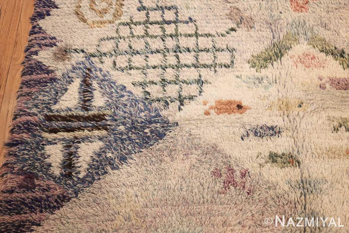 beautiful shag vintage swedish rya rug 48797 pattern Nazmiyal