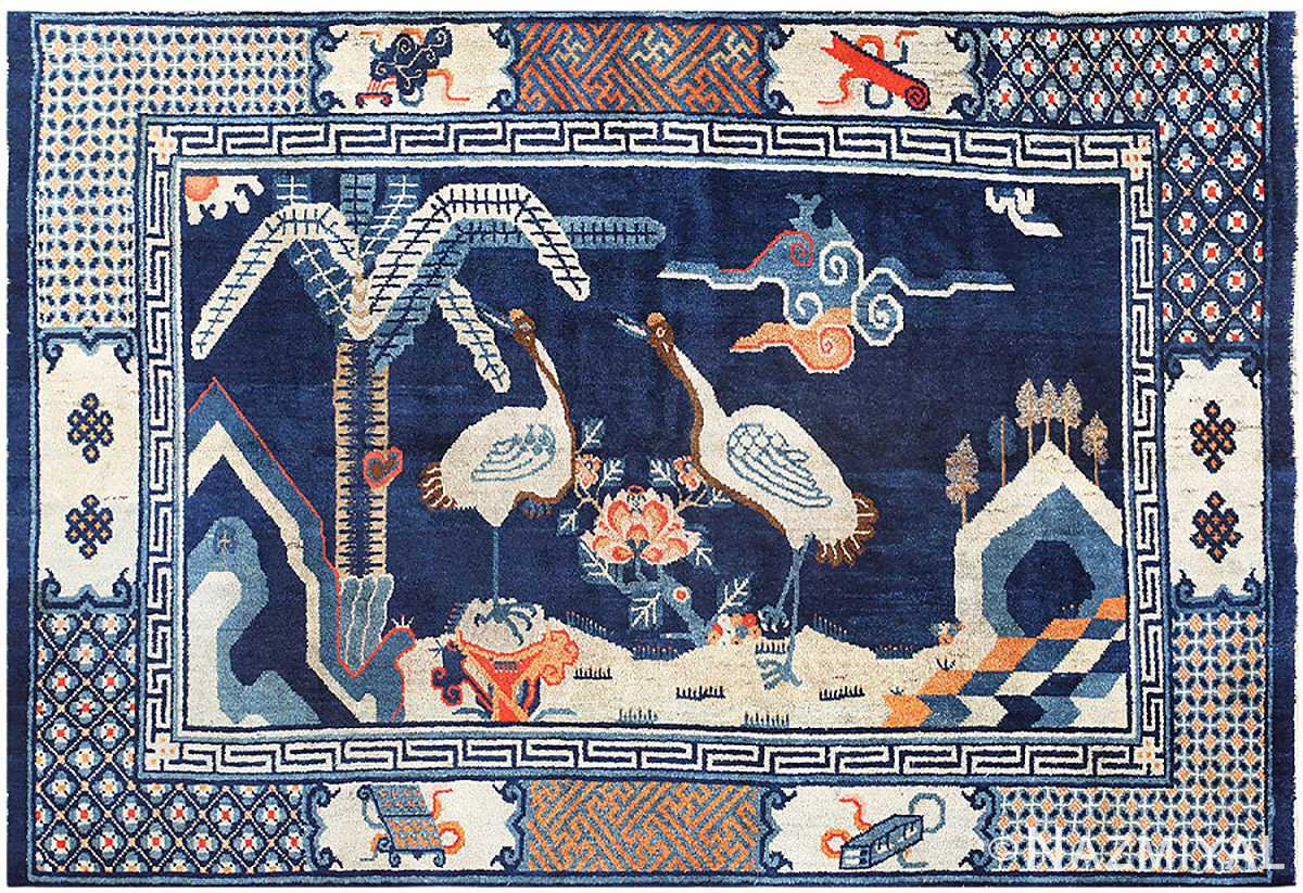 Blue Antique Chinese Carpet 48435 Detail/Large View