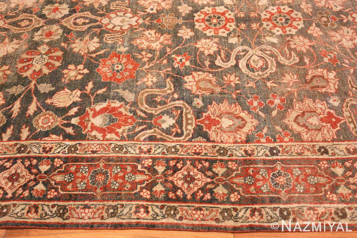 Border beautiful Grey Antique Persian Tabriz rug 48598 by Nazmiyal
