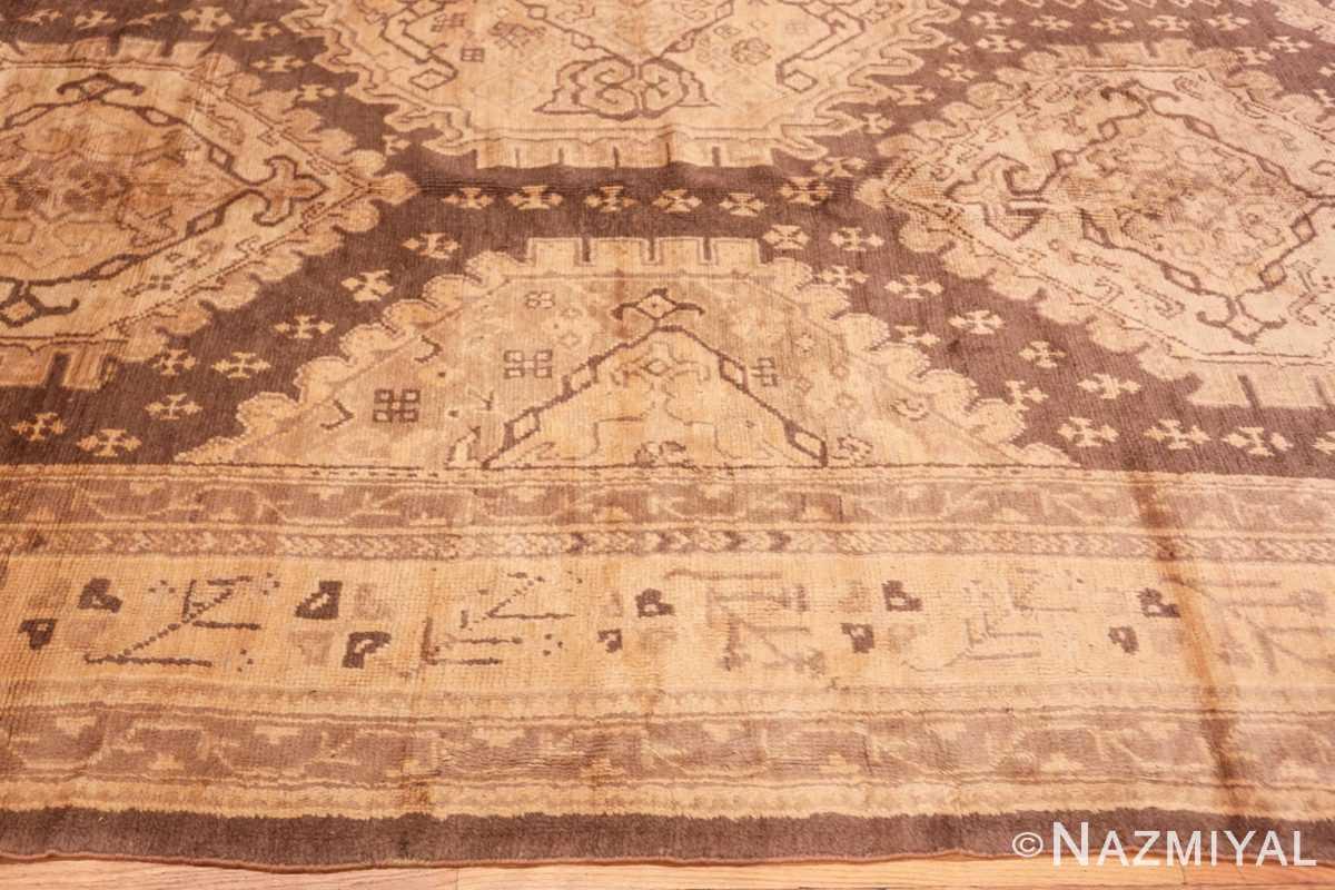 Border decorative large Antique Turkish Oushak rug 50566 by Nazmiyal