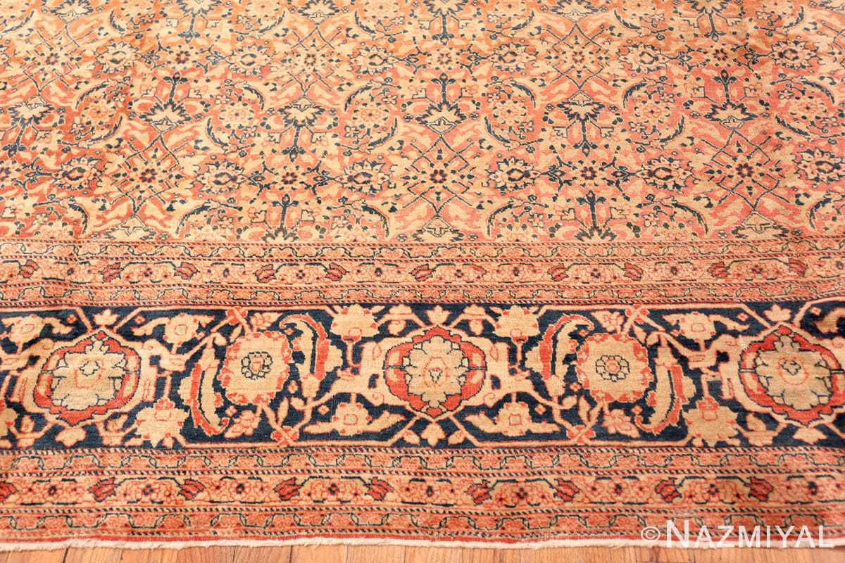 Border Large Mahi Fish Design Antique Persian Tabriz rug 50616 by Nazmiyal