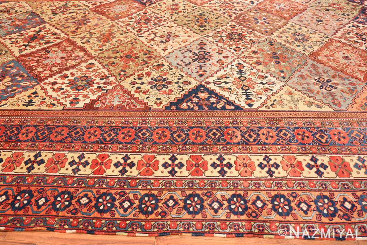 Border Oversize Tribal Persian Qashqai Antique rug 50619 by Nazmiyal
