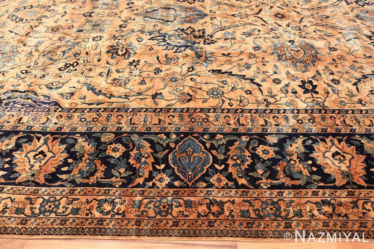 Border Oversized Antique Persian Kerman rug 50618 by Nazmiyal