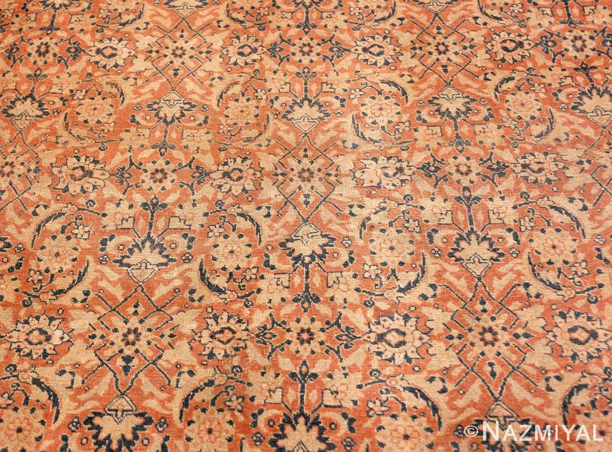 Close up Large Mahi Fish Design Antique Persian Tabriz rug 50616 by Nazmiyal