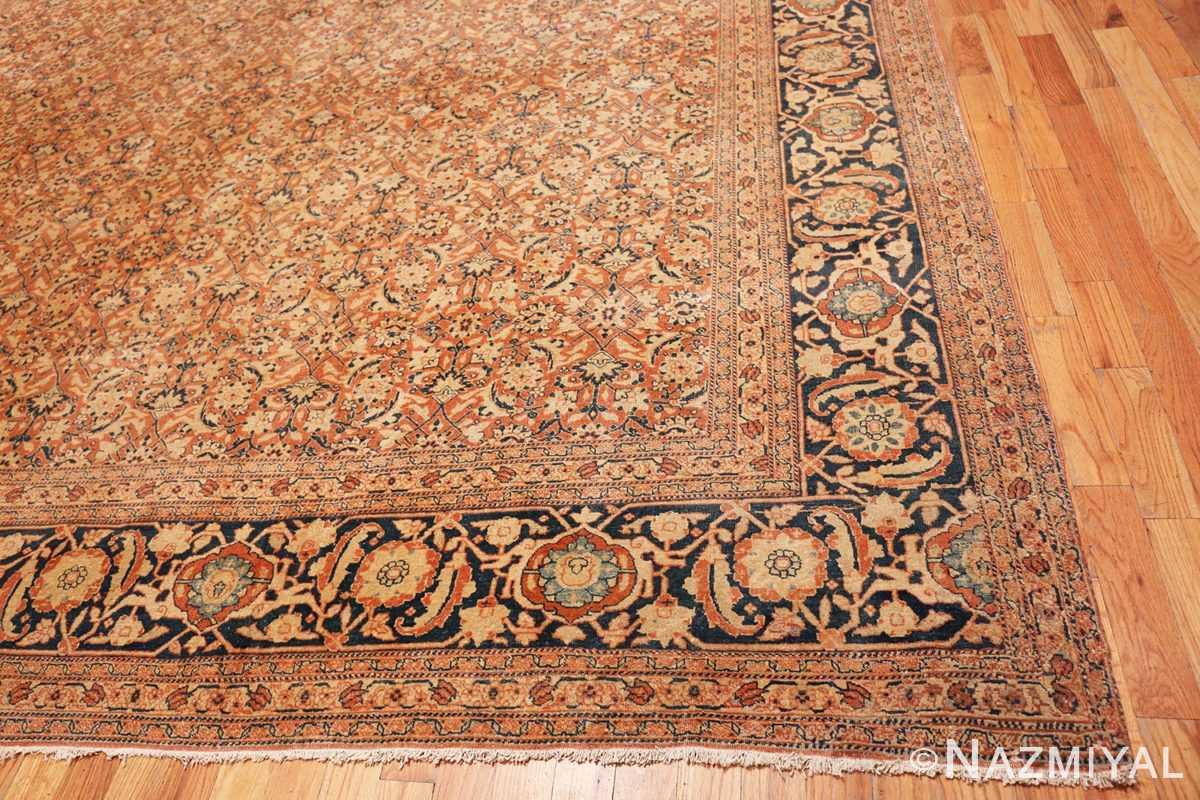 Corner Large Mahi Fish Design Antique Persian Tabriz rug 50616 by Nazmiyal