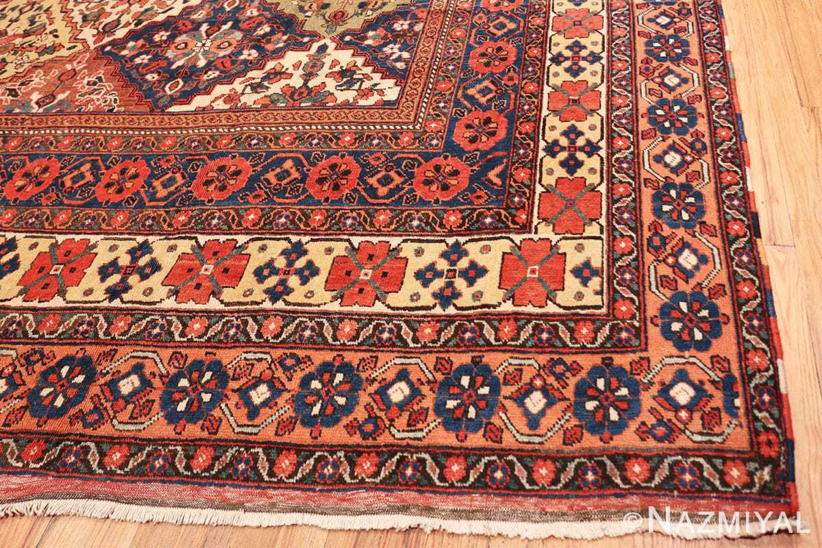 Corner Oversize Tribal Persian Qashqai Antique rug 50619 by Nazmiyal
