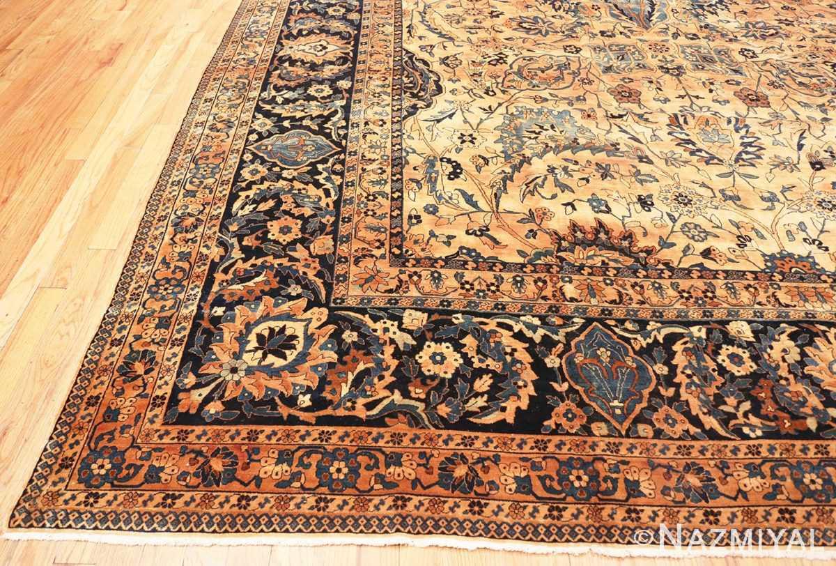 Corner Oversized Antique Persian Kerman rug 50618 by Nazmiyal