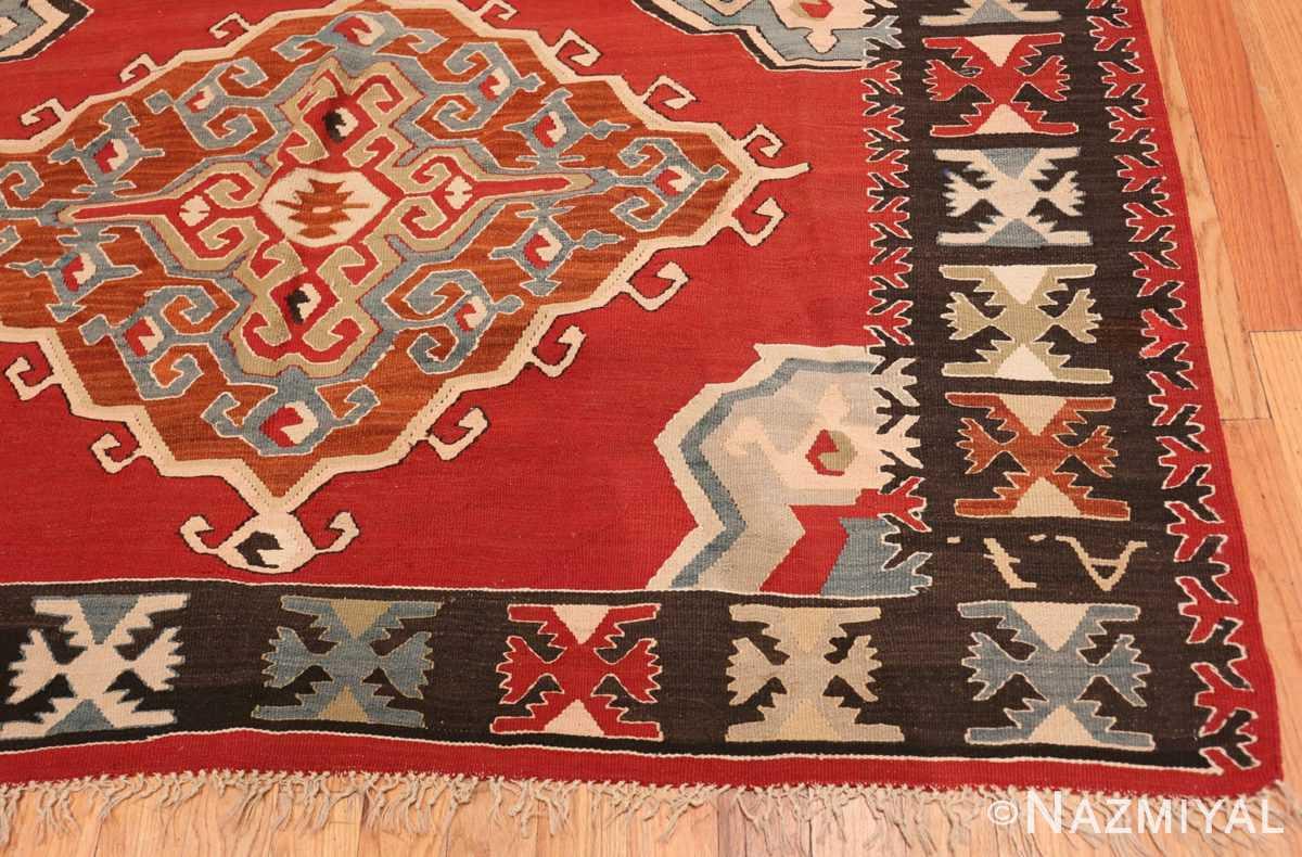 Corner Vintage Tribal Turkish Kilim rug 50636 by Nazmiyal