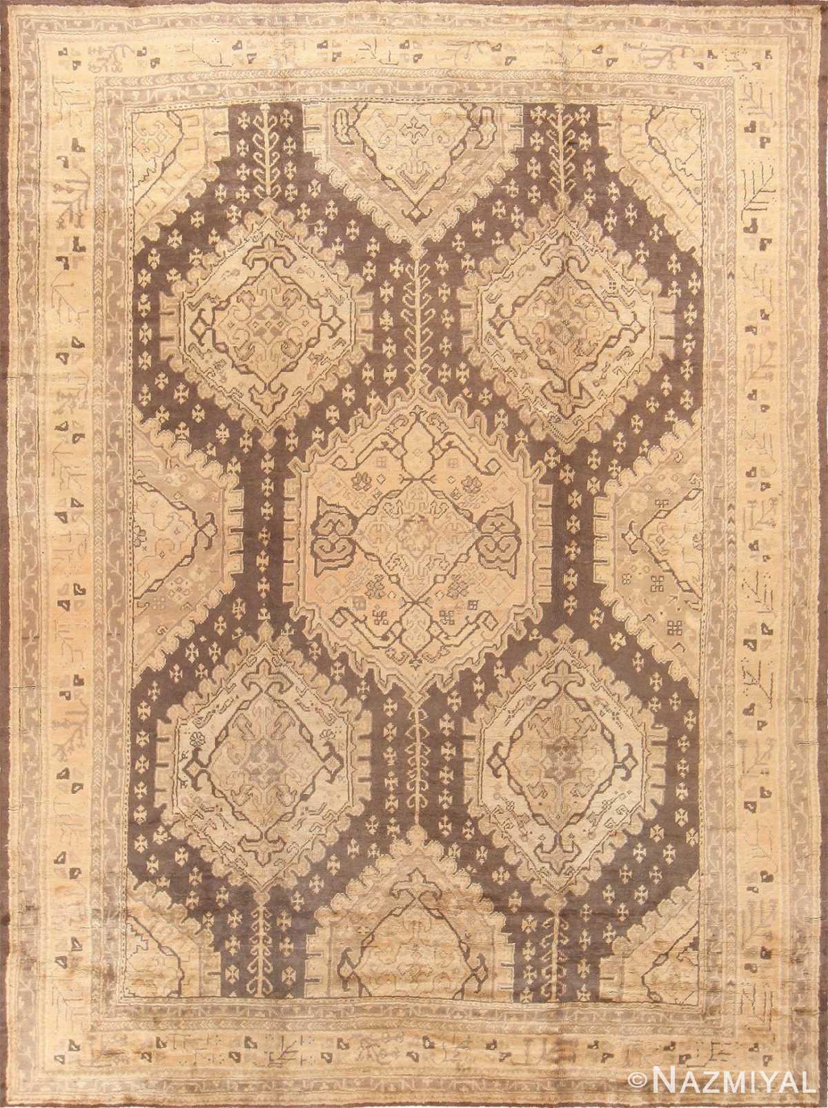 Decorative Large Antique Turkish Oushak Rug 50566 Nazmiyal