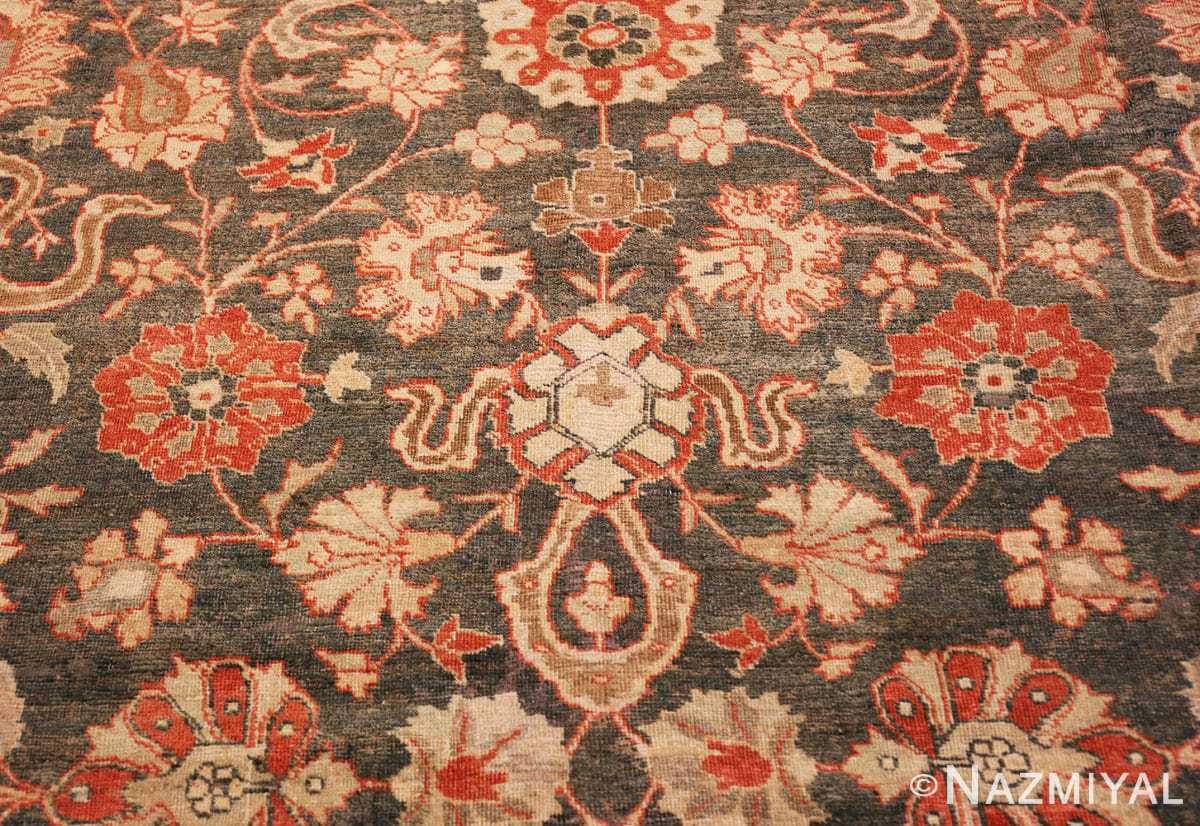 Detail beautiful Grey Antique Persian Tabriz rug 48598 by Nazmiyal