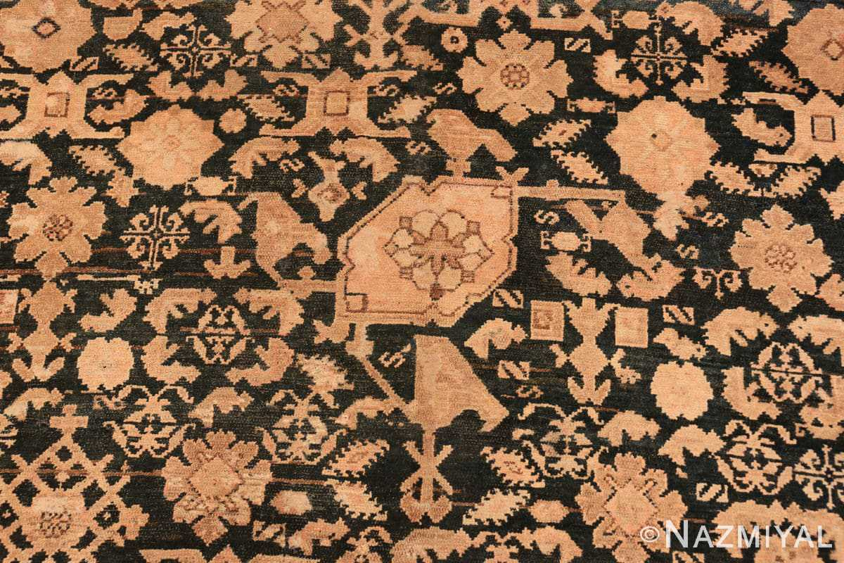 Detail Antique gallery size tribal Persian Malayer rug 50469 by Nazmiyal Antique Rugs in NYC