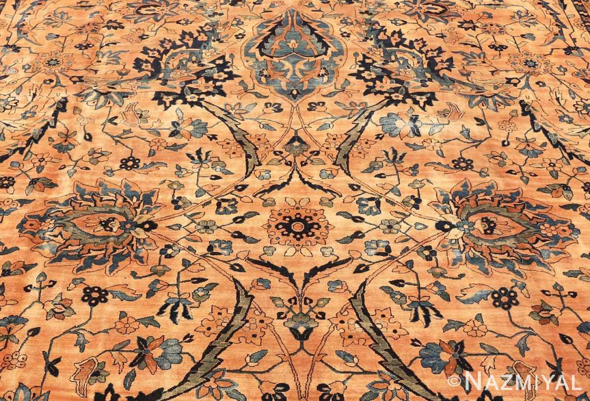 Detail Oversized Antique Persian Kerman rug 50618 by Nazmiyal
