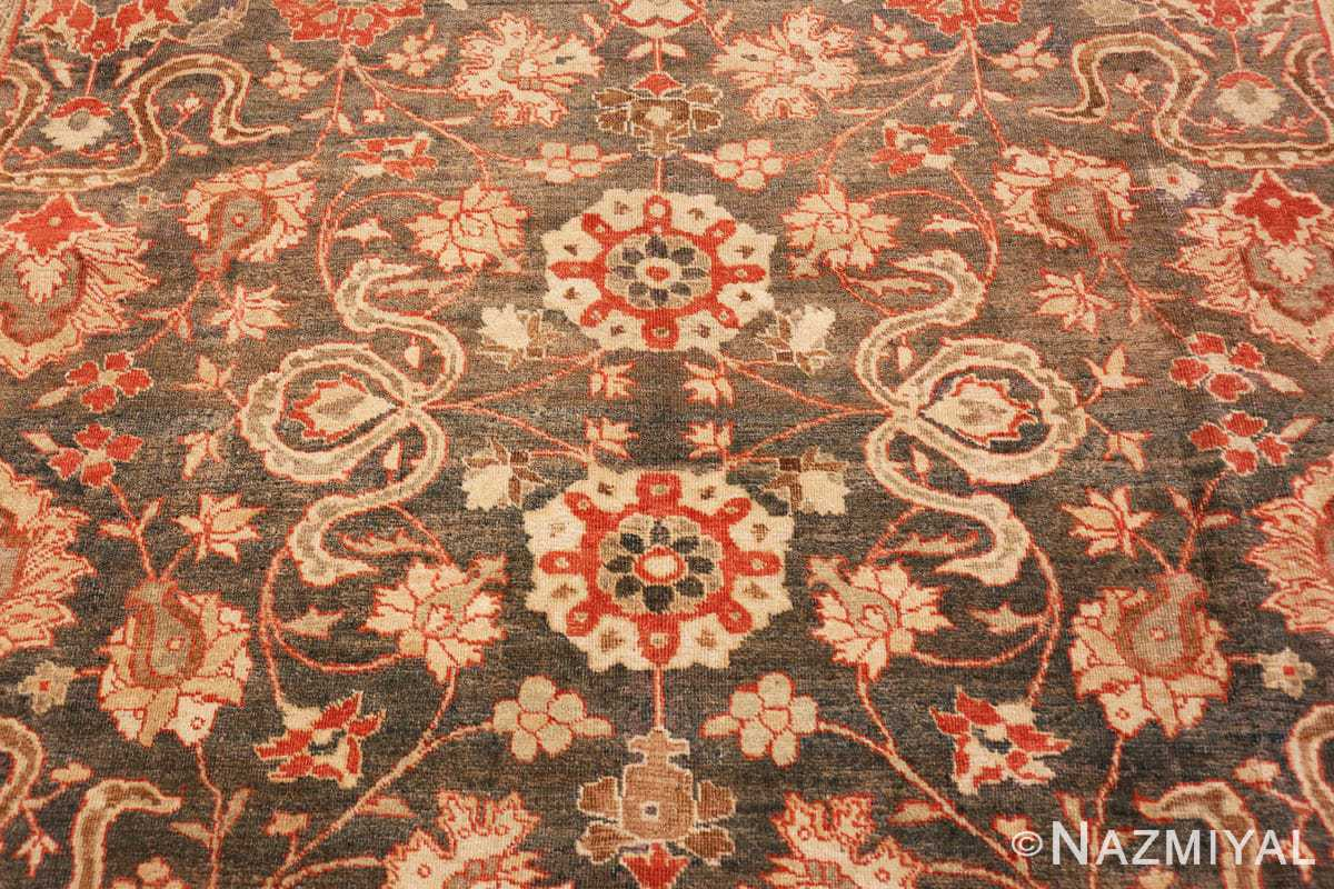 Field beautiful Grey Antique Persian Tabriz rug 48598 by Nazmiyal