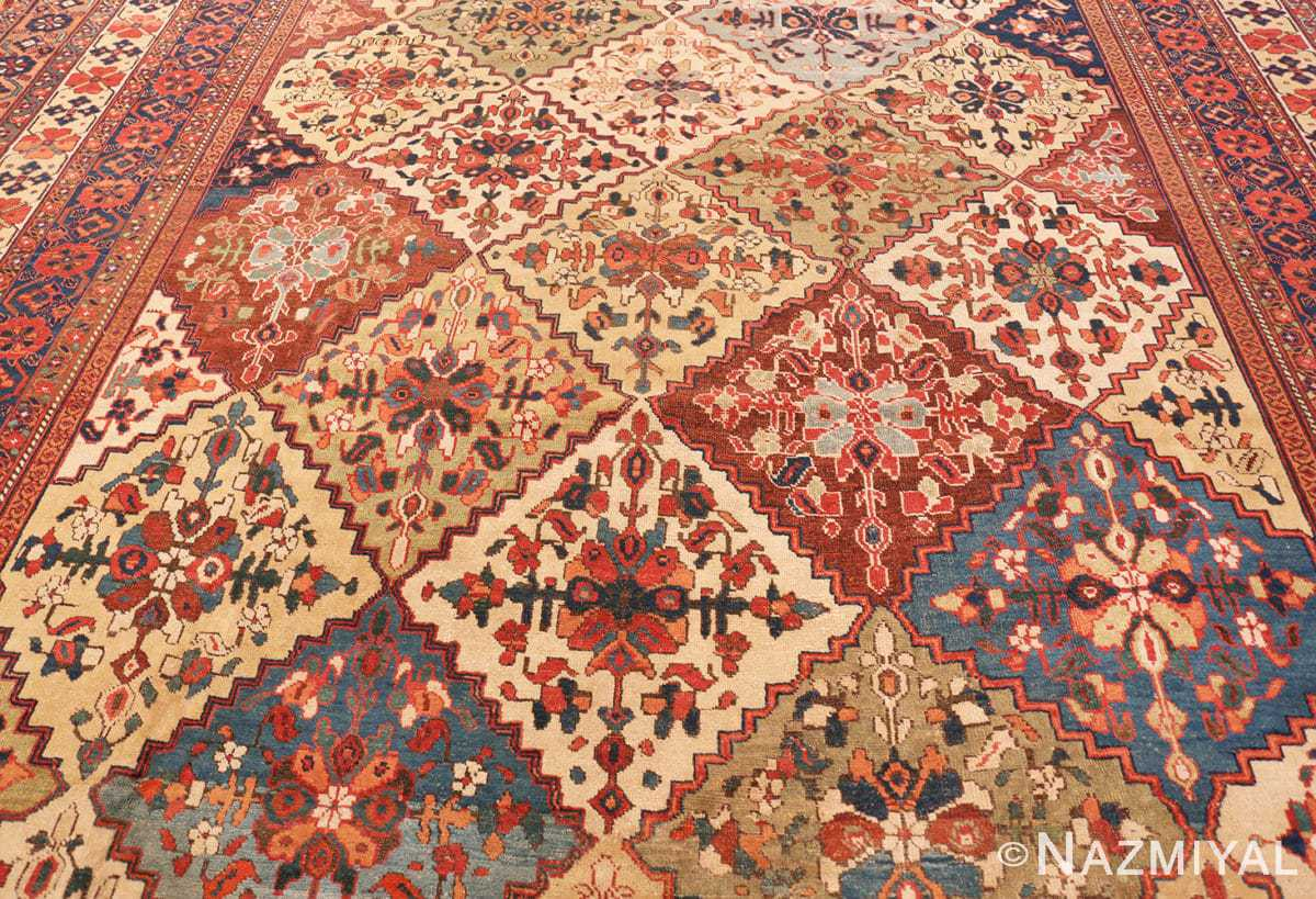 Field Oversize Tribal Persian Qashqai Antique rug 50619 by Nazmiyal