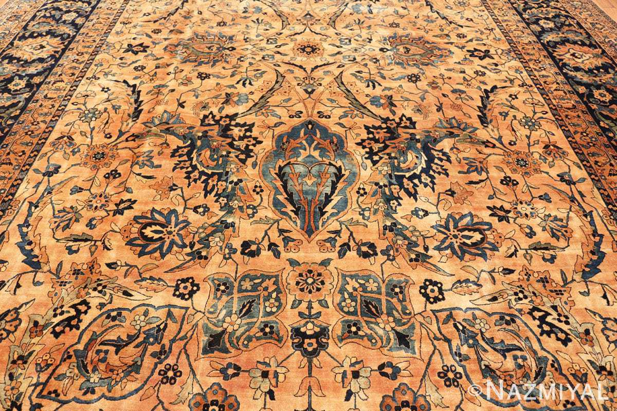 Field Oversized Antique Persian Kerman rug 50618 by Nazmiyal