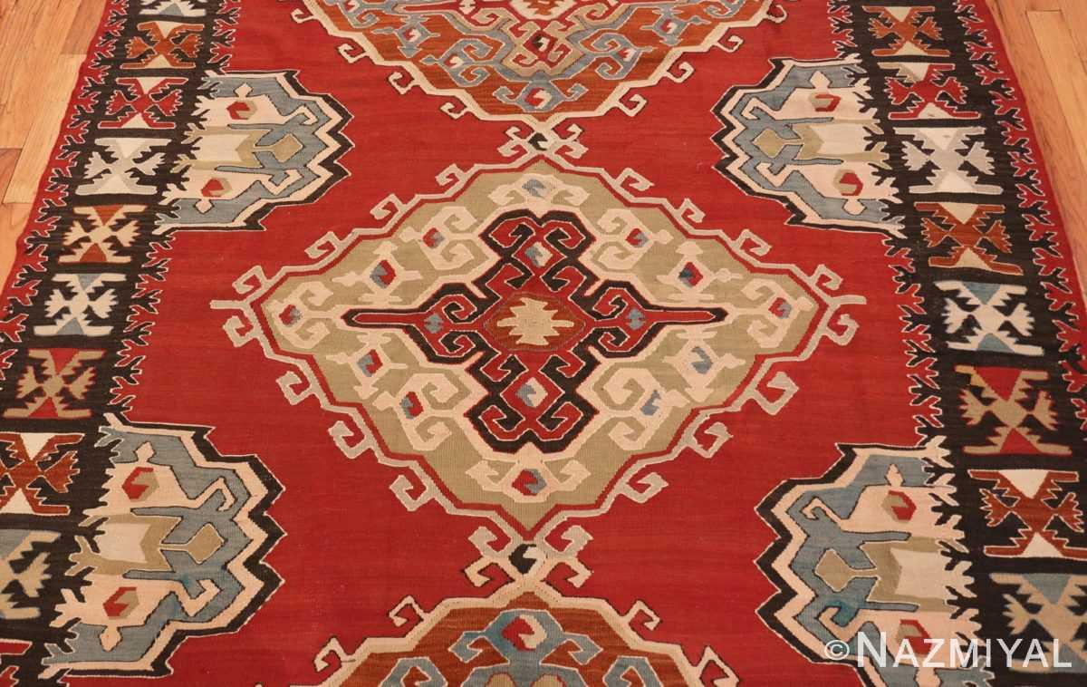 Field Vintage Tribal Turkish Kilim rug 50636 by Nazmiyal