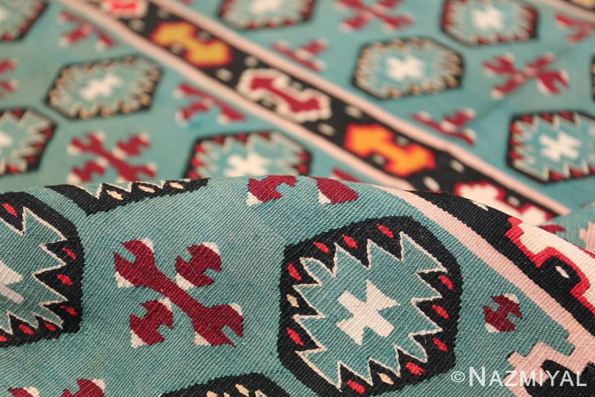 Fine Light Blue Tribal Antique Turkish Kilim Rug 50628 Blue Pile Nazmiyal