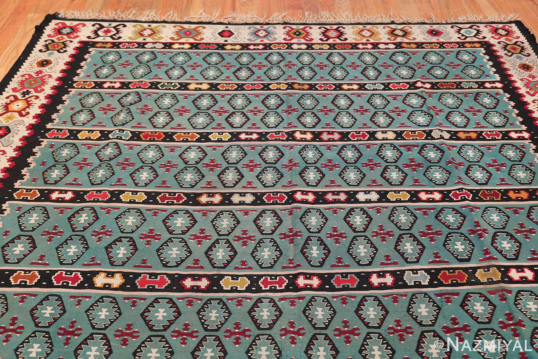 Fine Light Blue Tribal Antique Turkish Kilim Rug 50628 Top Design Nazmiyal