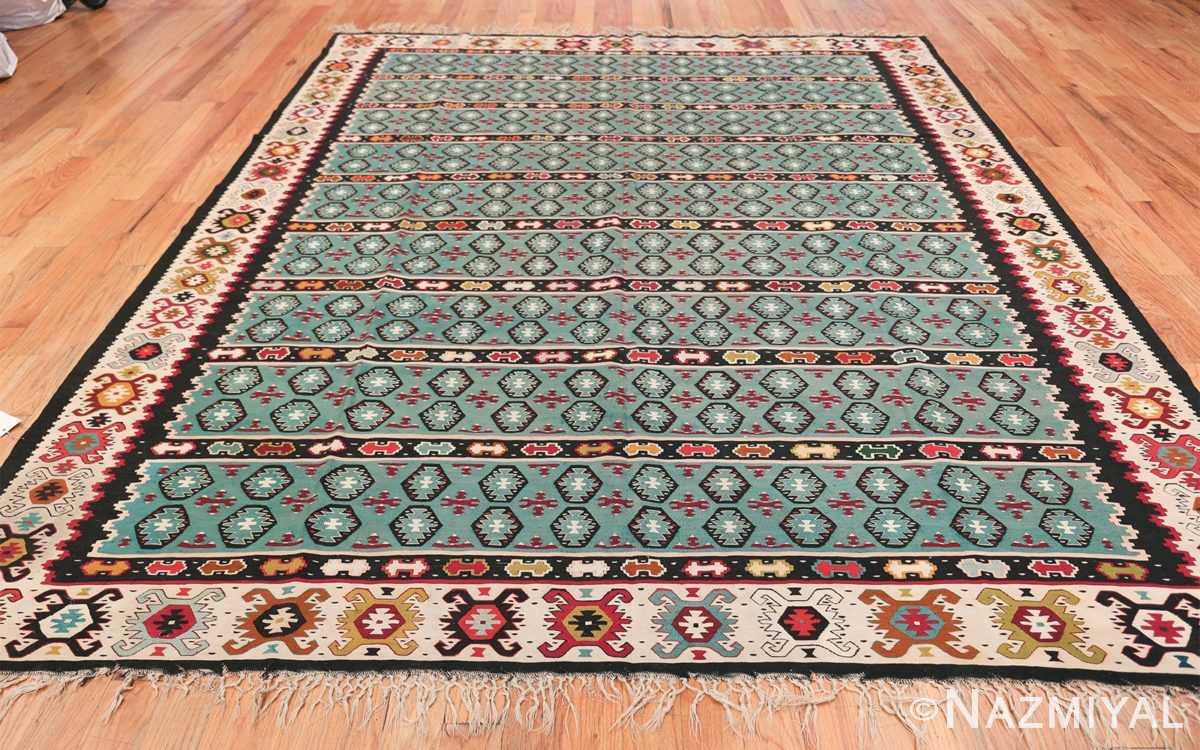 Fine Light Blue Tribal Antique Turkish Kilim Rug 50628 Whole Design Nazmiyal
