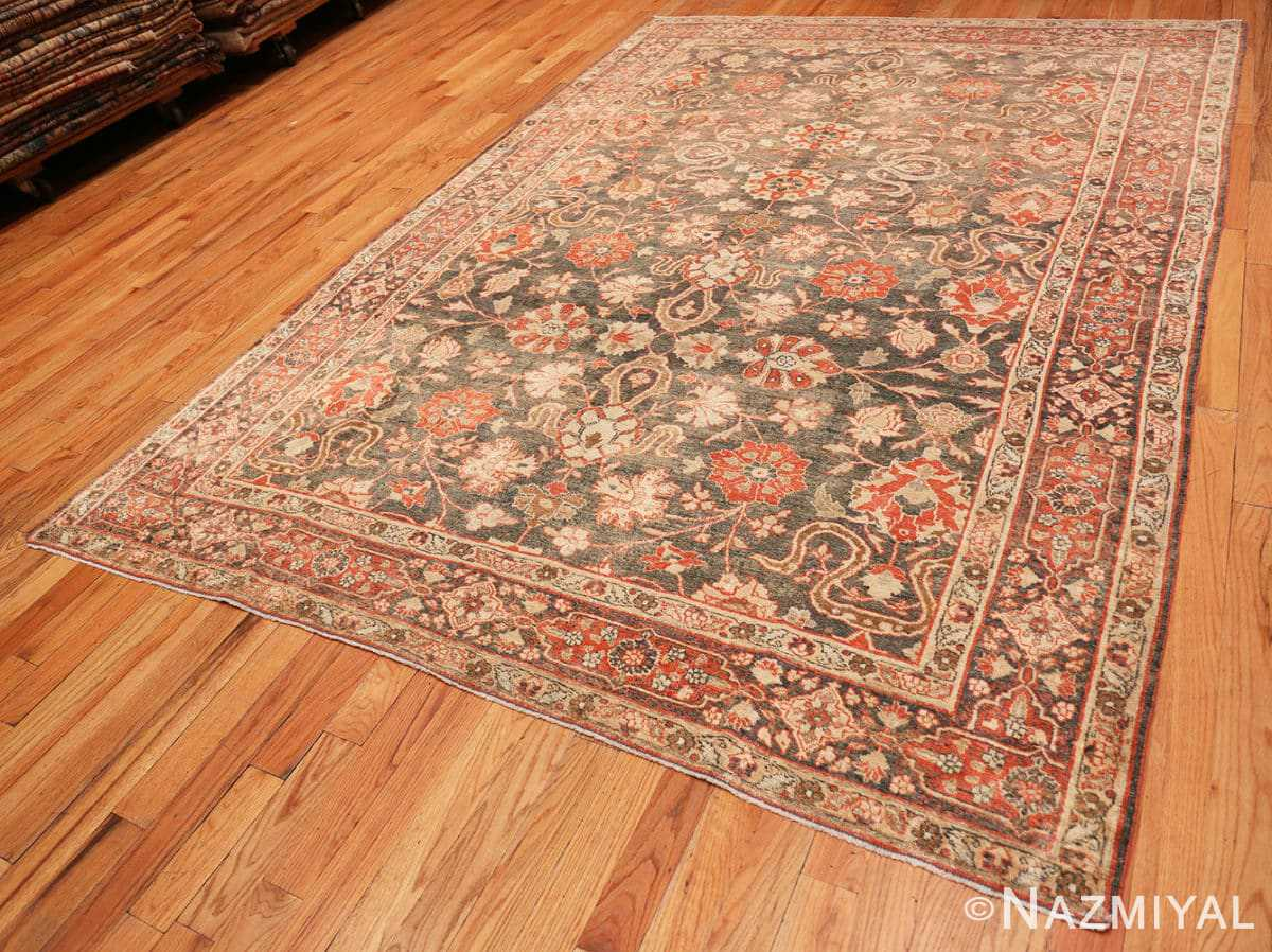 Full beautiful Grey Antique Persian Tabriz rug 48598 by Nazmiyal