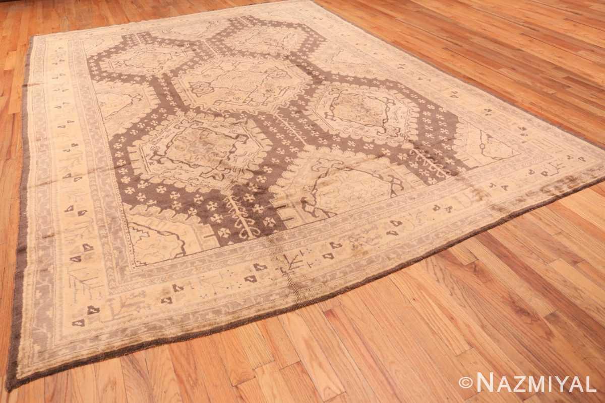 Full decorative large Antique Turkish Oushak rug 50566 by Nazmiyal