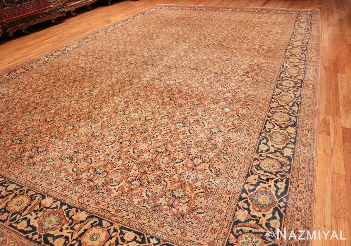 Full Large Mahi Fish Design Antique Persian Tabriz rug 50616 by Nazmiyal
