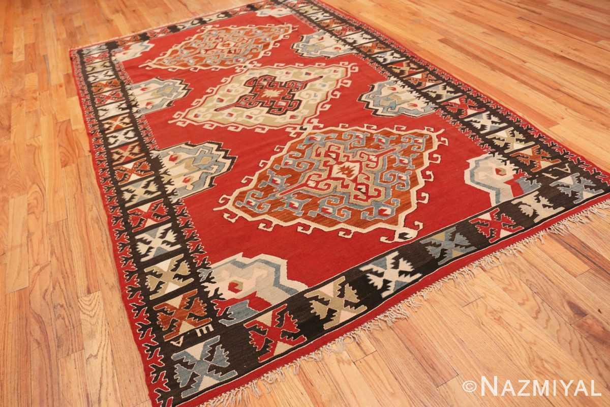 Full Vintage Tribal Turkish Kilim rug 50636 by Nazmiyal