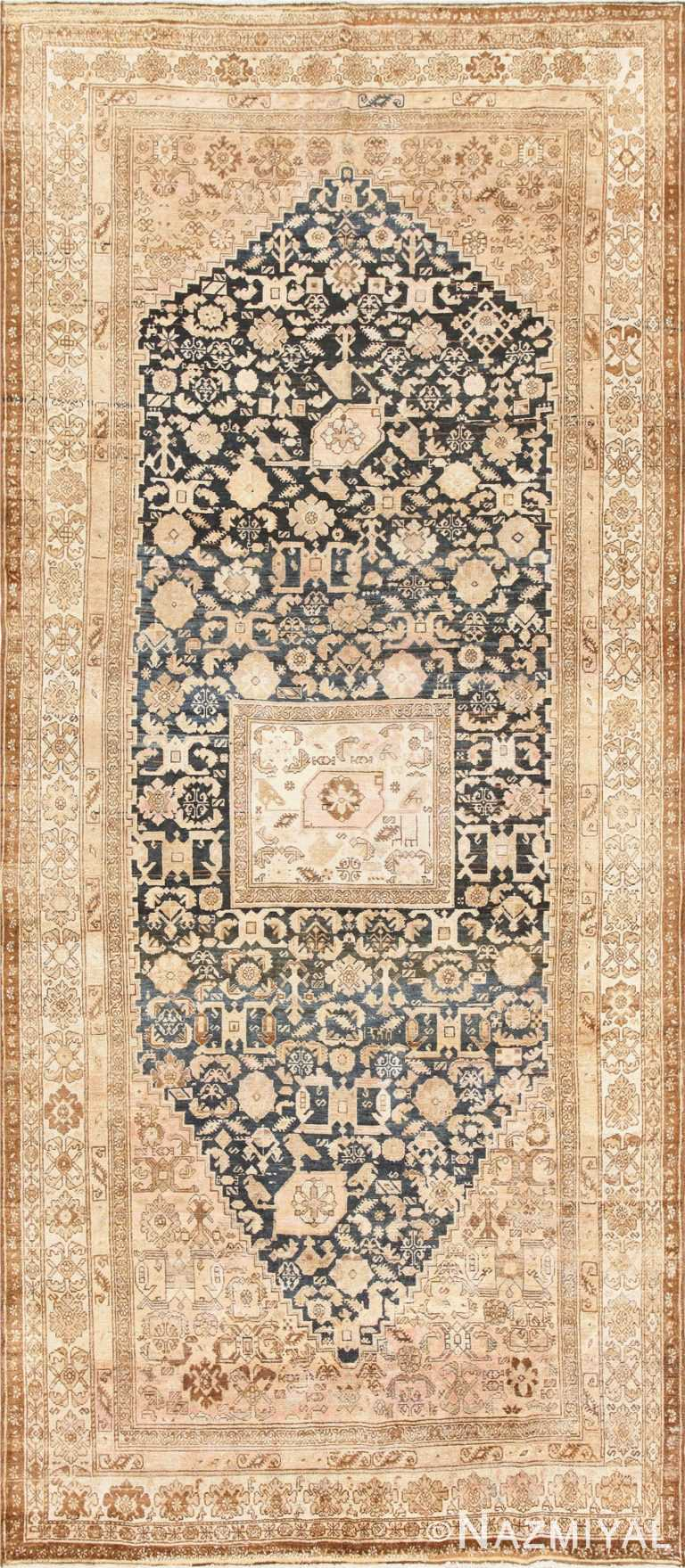 Gallery Size Antique Tribal Persian Malayer Rug 50469 Nazmiyal