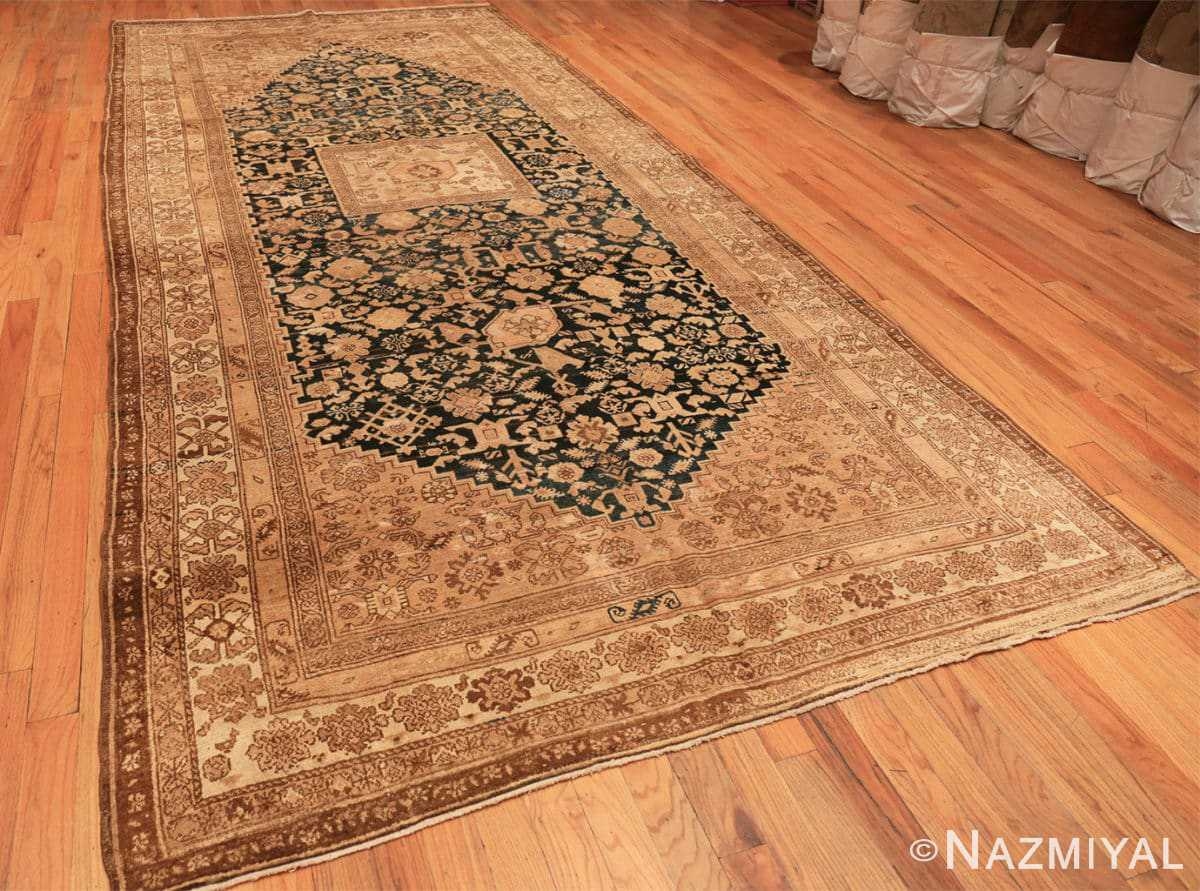 Full Antique gallery size tribal Persian Malayer rug 50469 by Nazmiyal Antique Rugs in NYC