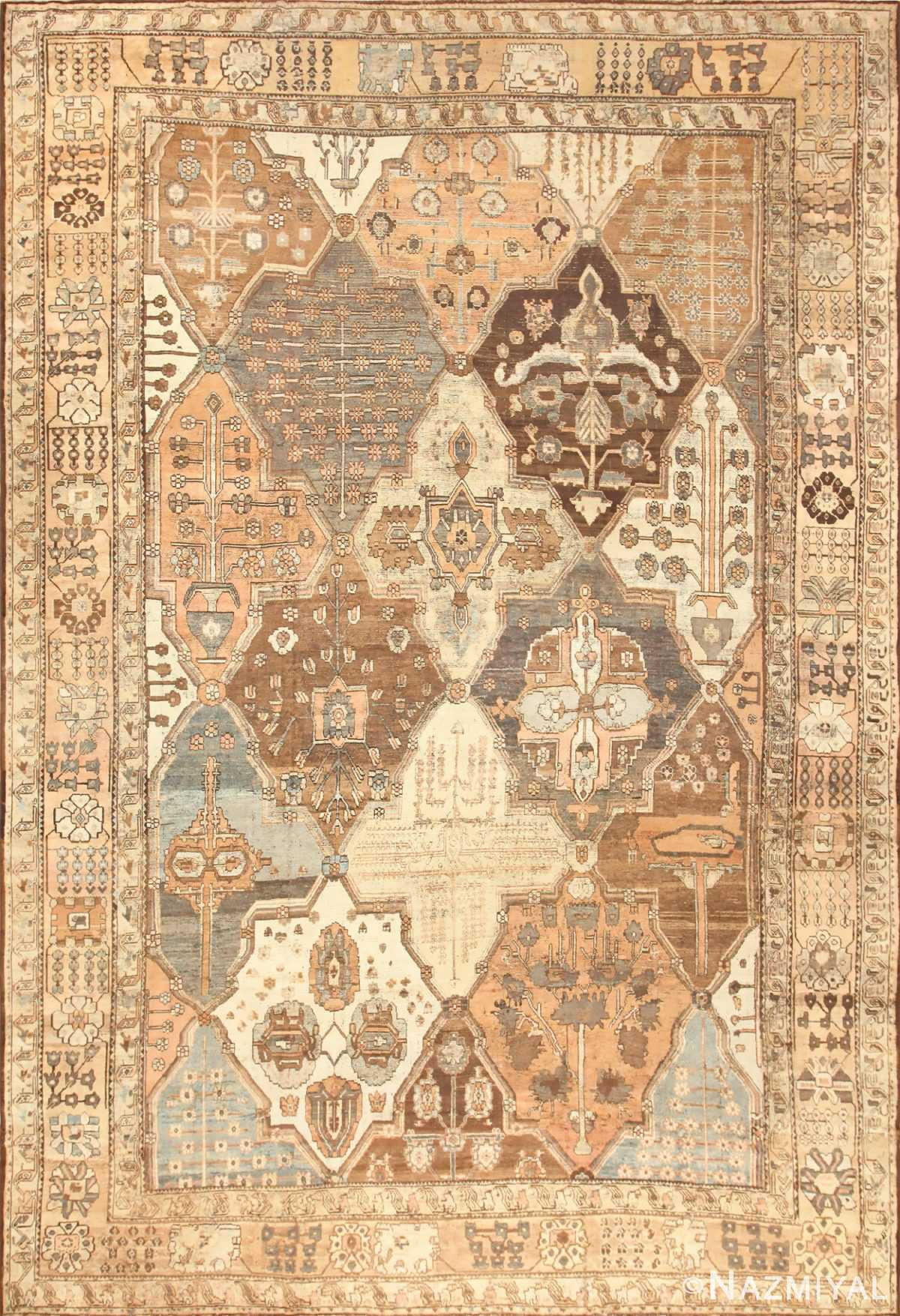Garden Design Antique Persian Bakhtiari Rug 47975 Nazmiyal