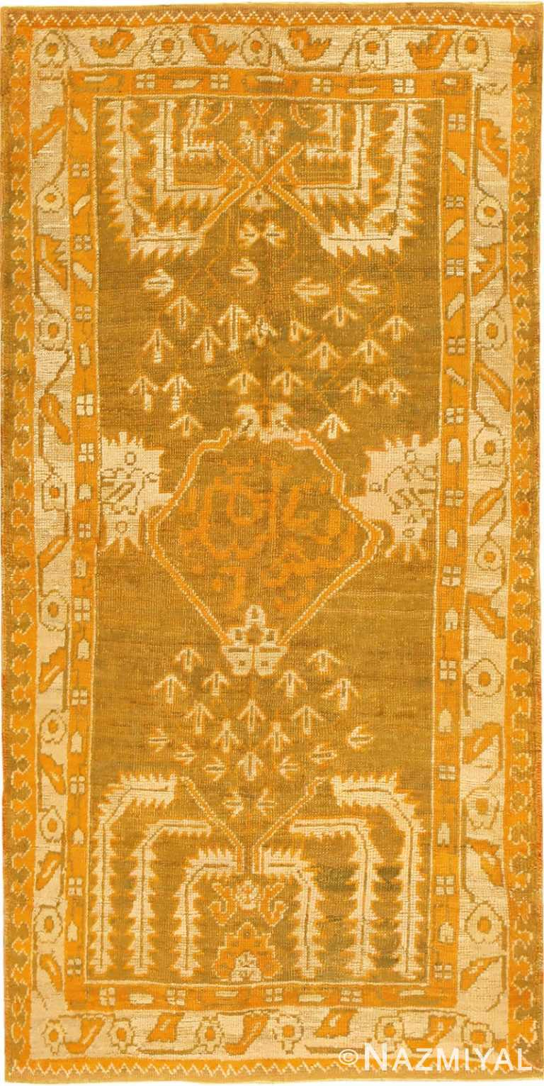 Green Color Antique Turkish Oushak Rug 50639 Nazmiyal
