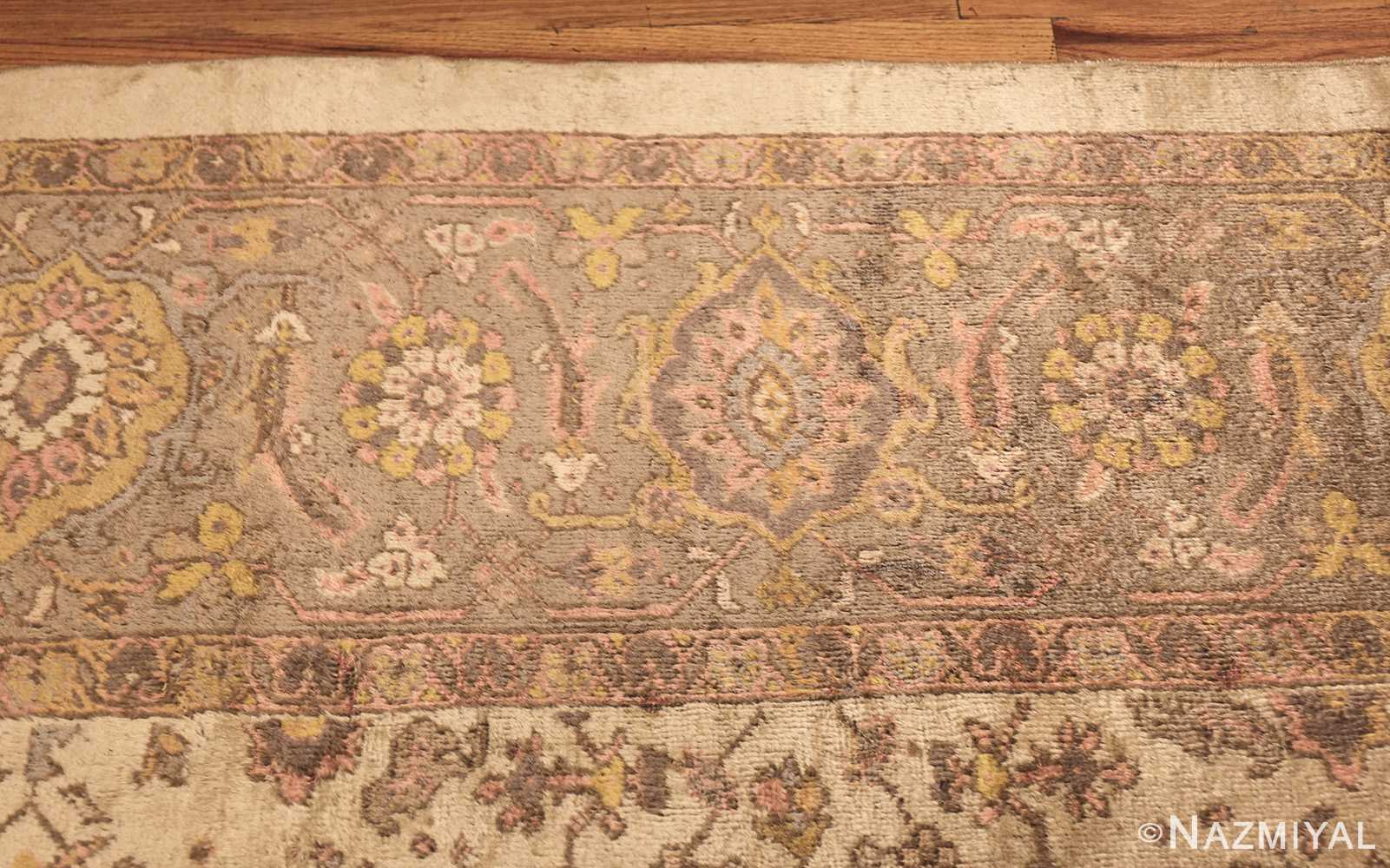 ivory antique square persian sultanabad rug 50590 border Nazmiyal
