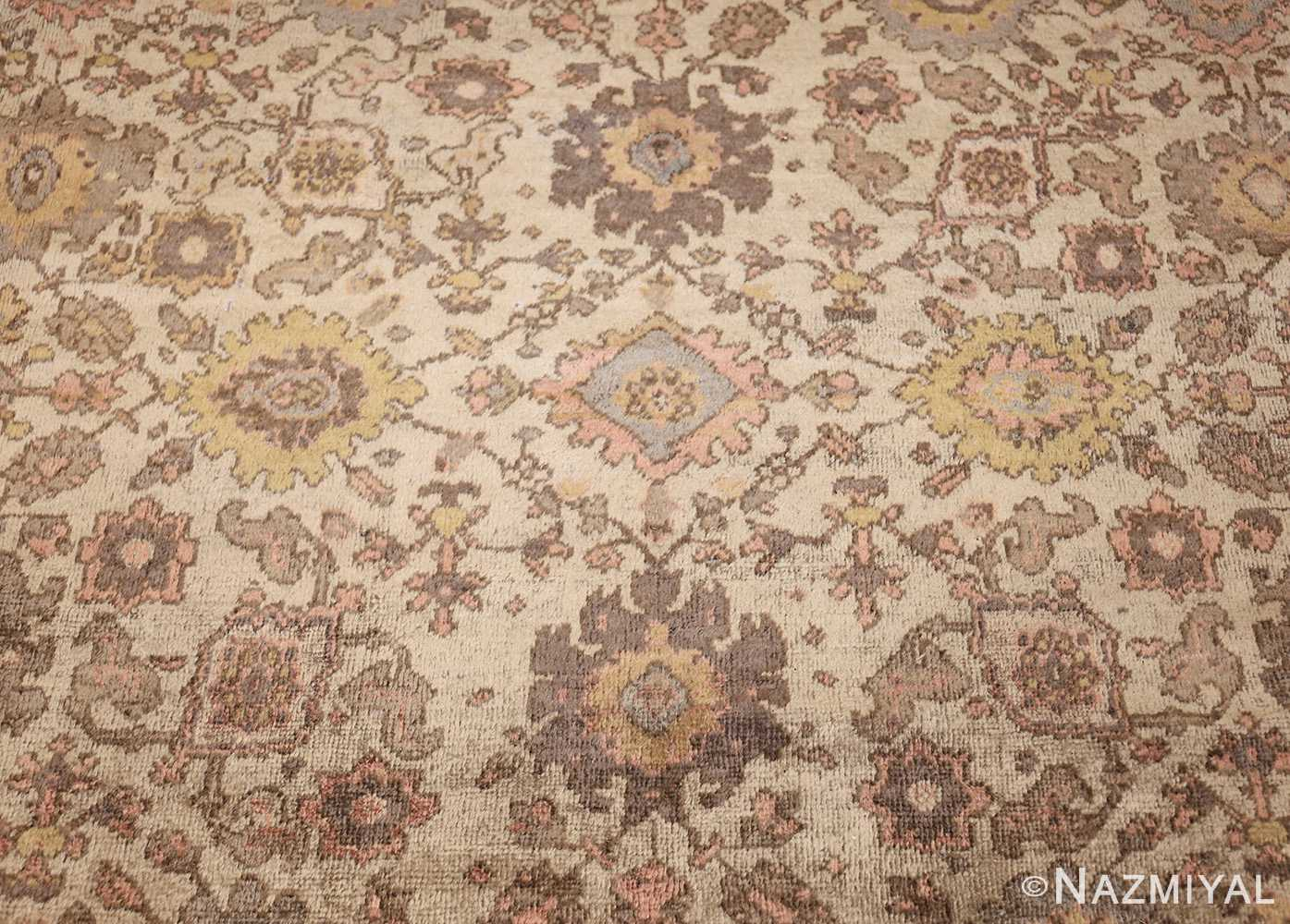 ivory antique square persian sultanabad rug 50590 design Nazmiyal
