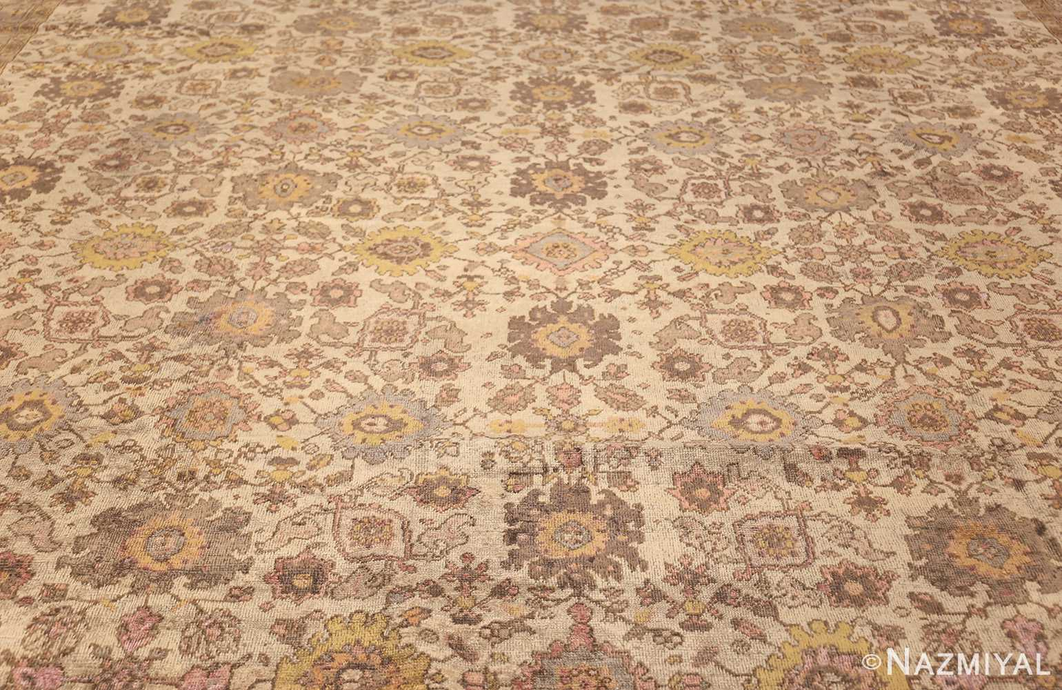 ivory antique square persian sultanabad rug 50590 field Nazmiyal