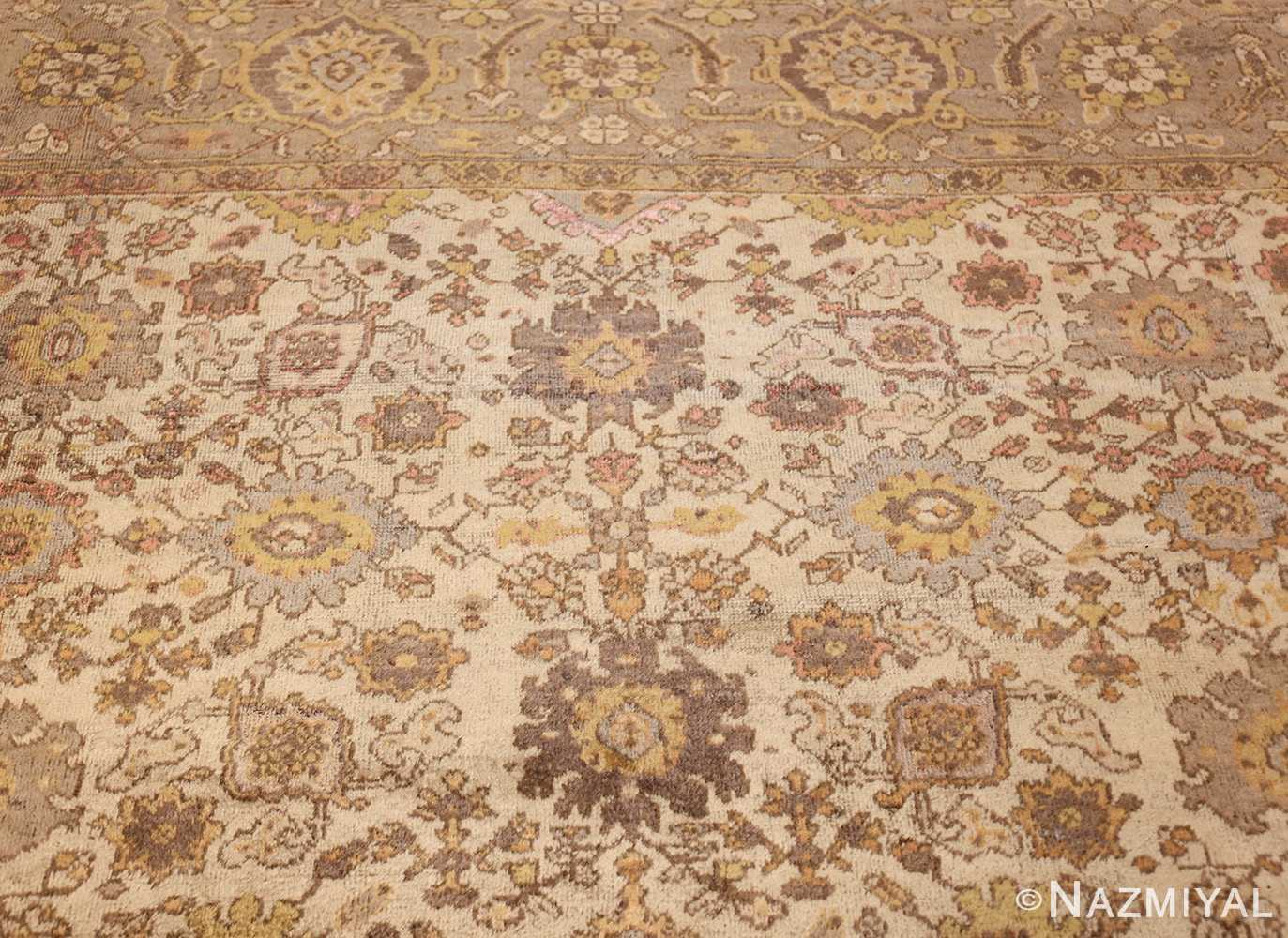 ivory antique square persian sultanabad rug 50590 top Nazmiyal