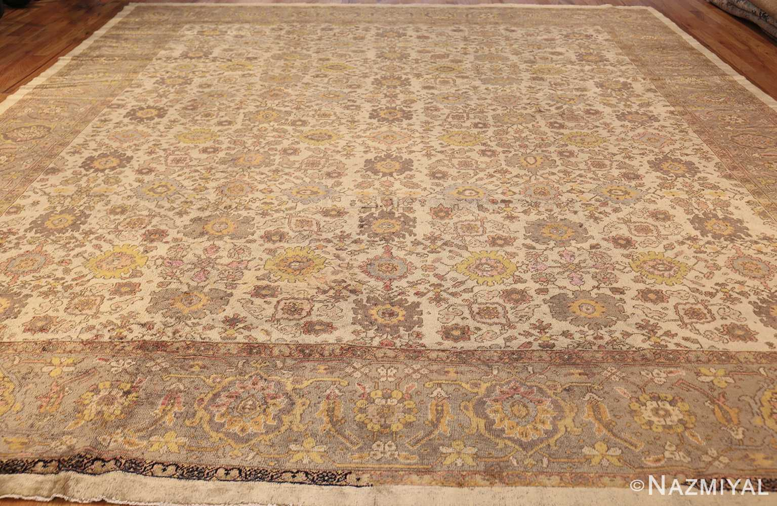 ivory antique square persian sultanabad rug 50590 whole Nazmiyal