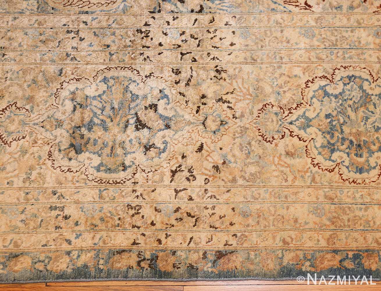 large decorative antique persian kerman rug 50622 border Nazmiyal