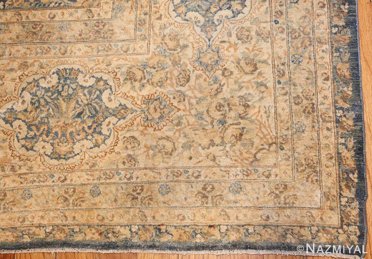large decorative antique persian kerman rug 50622 corner Nazmiyal