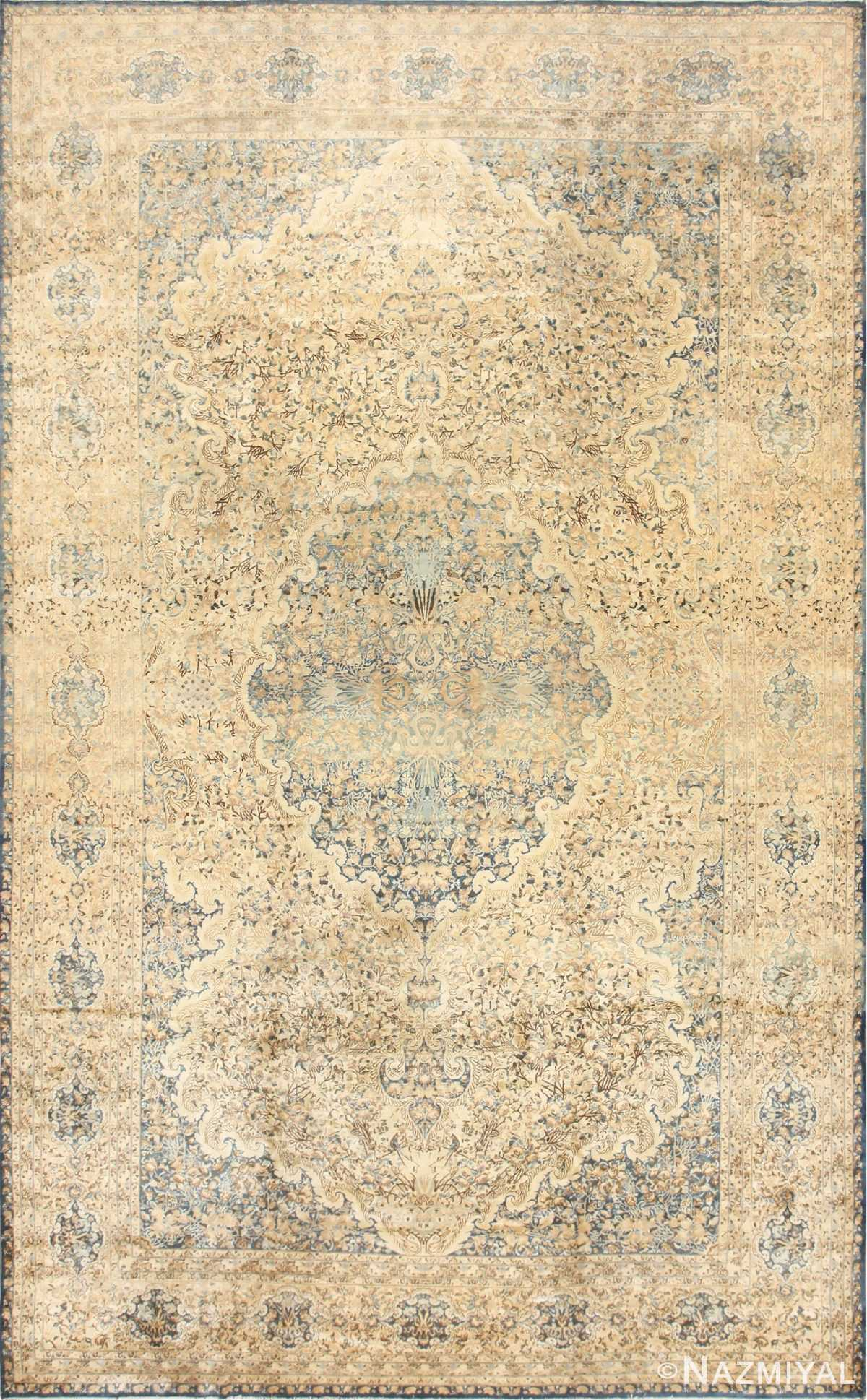 Large Decorative Antique Persian Kerman Rug 50622 Nazmiyal