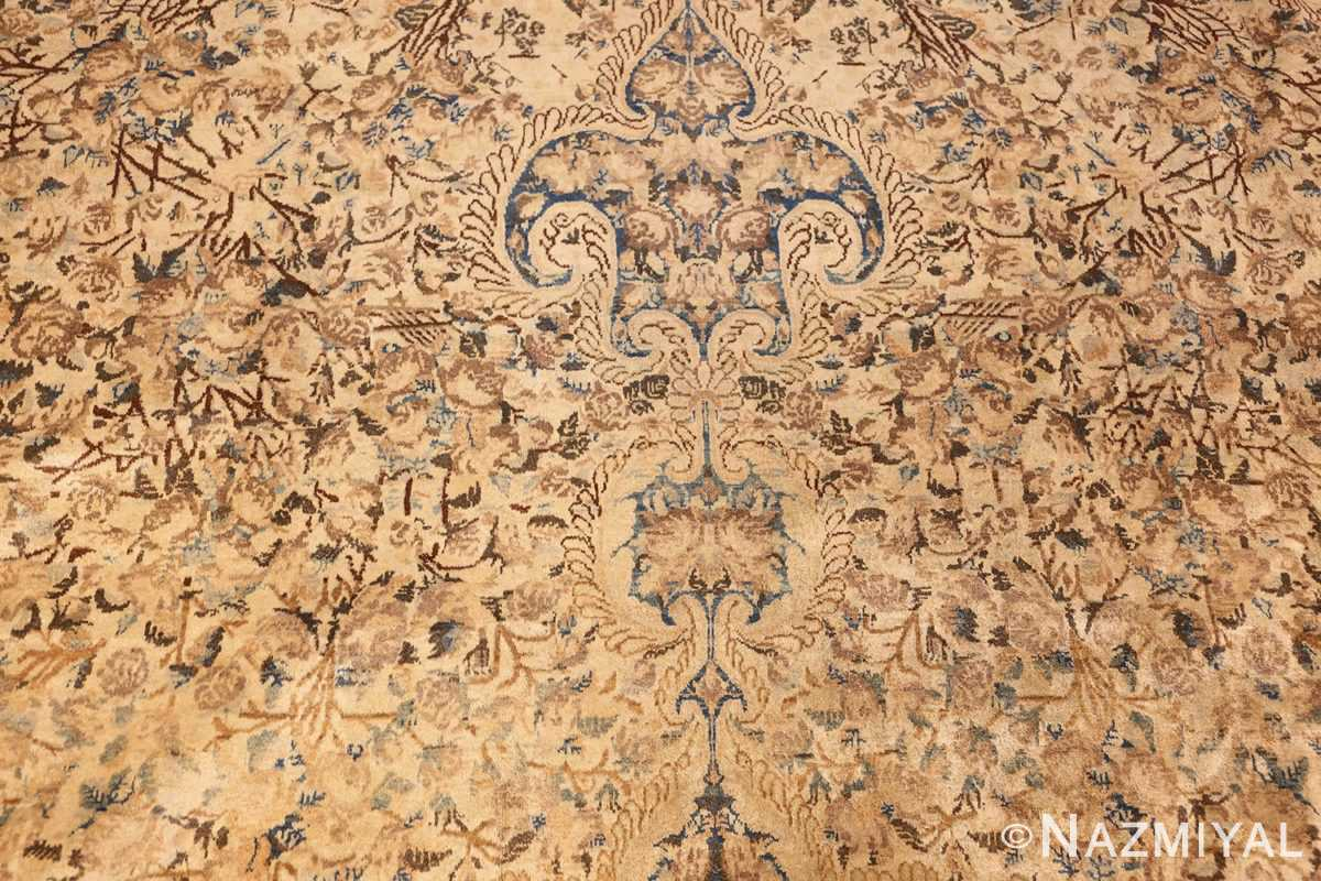 large decorative antique persian kerman rug 50622 field Nazmiyal