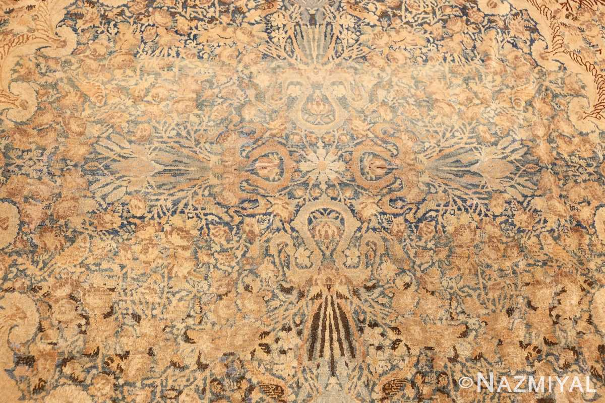 large decorative antique persian kerman rug 50622 medallion Nazmiyal